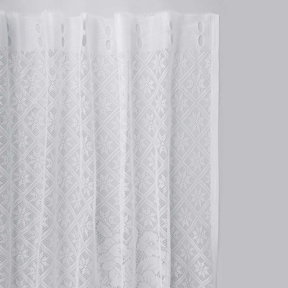 Занавеска тюлевая для кухни 170x160 см, 100% полиэстер, 2 дизайна