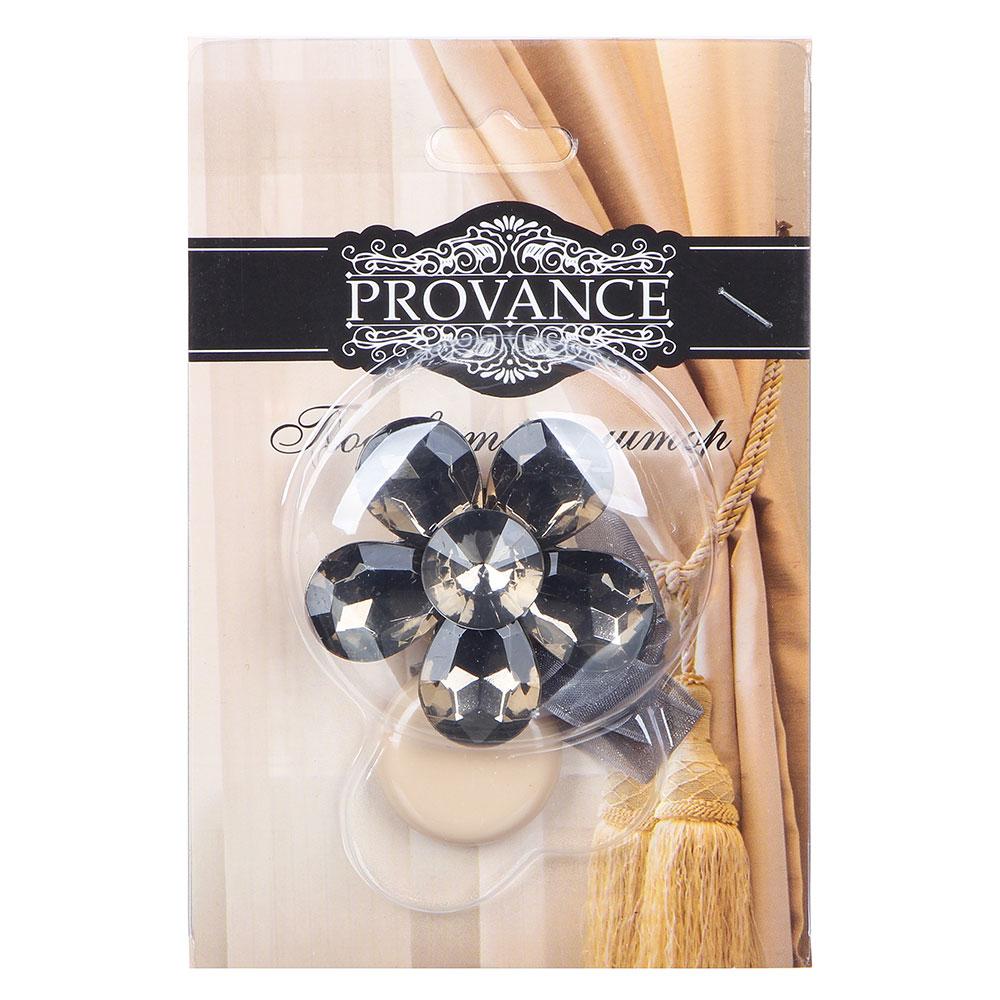 "Подхват для штор магнитный 1-сторонний PROVANCE ""Цветок"", d.5 см, 3 цвета, пластик"