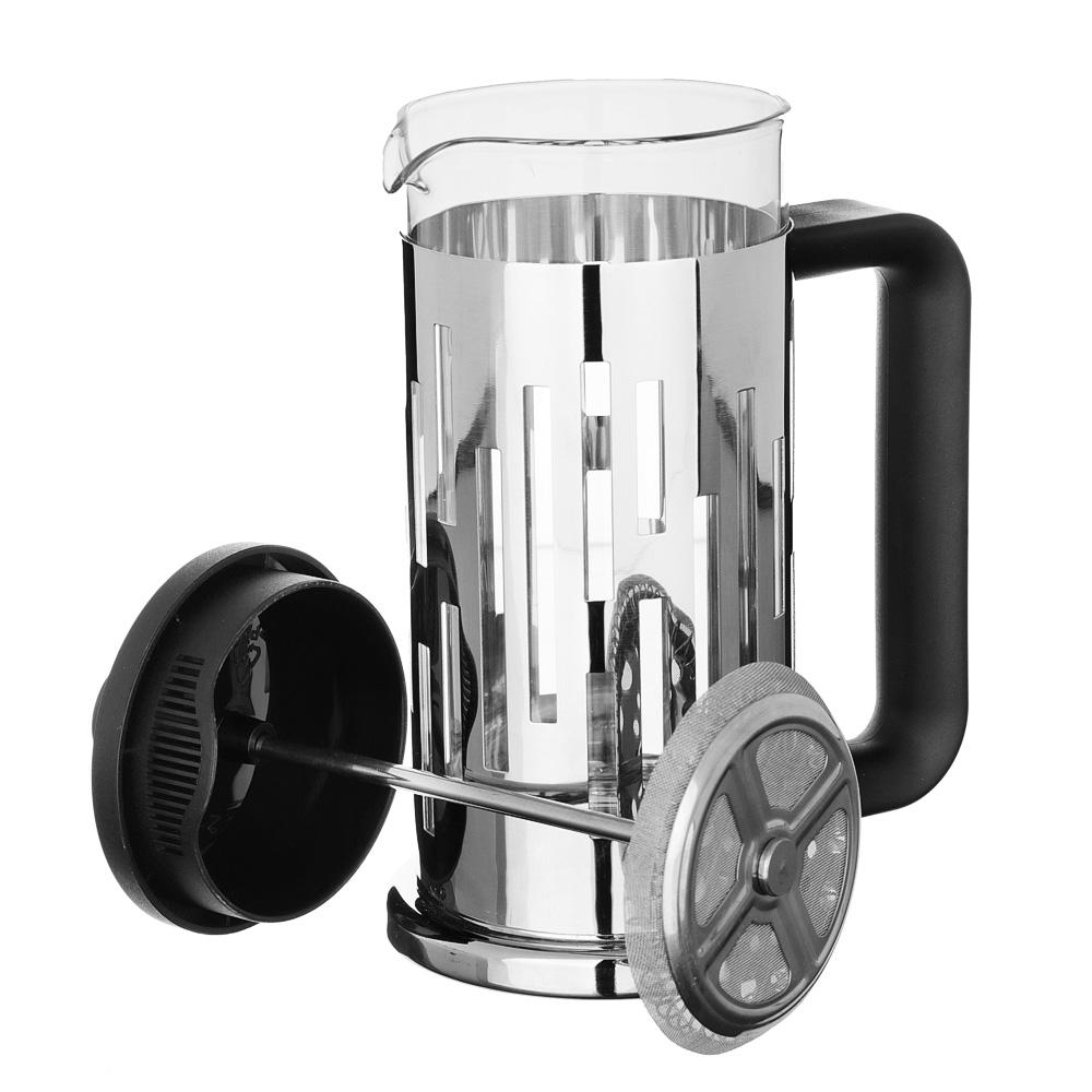 SATOSHI Рейн Френч-пресс 350мл, жаропрочное стекло, нерж.сталь