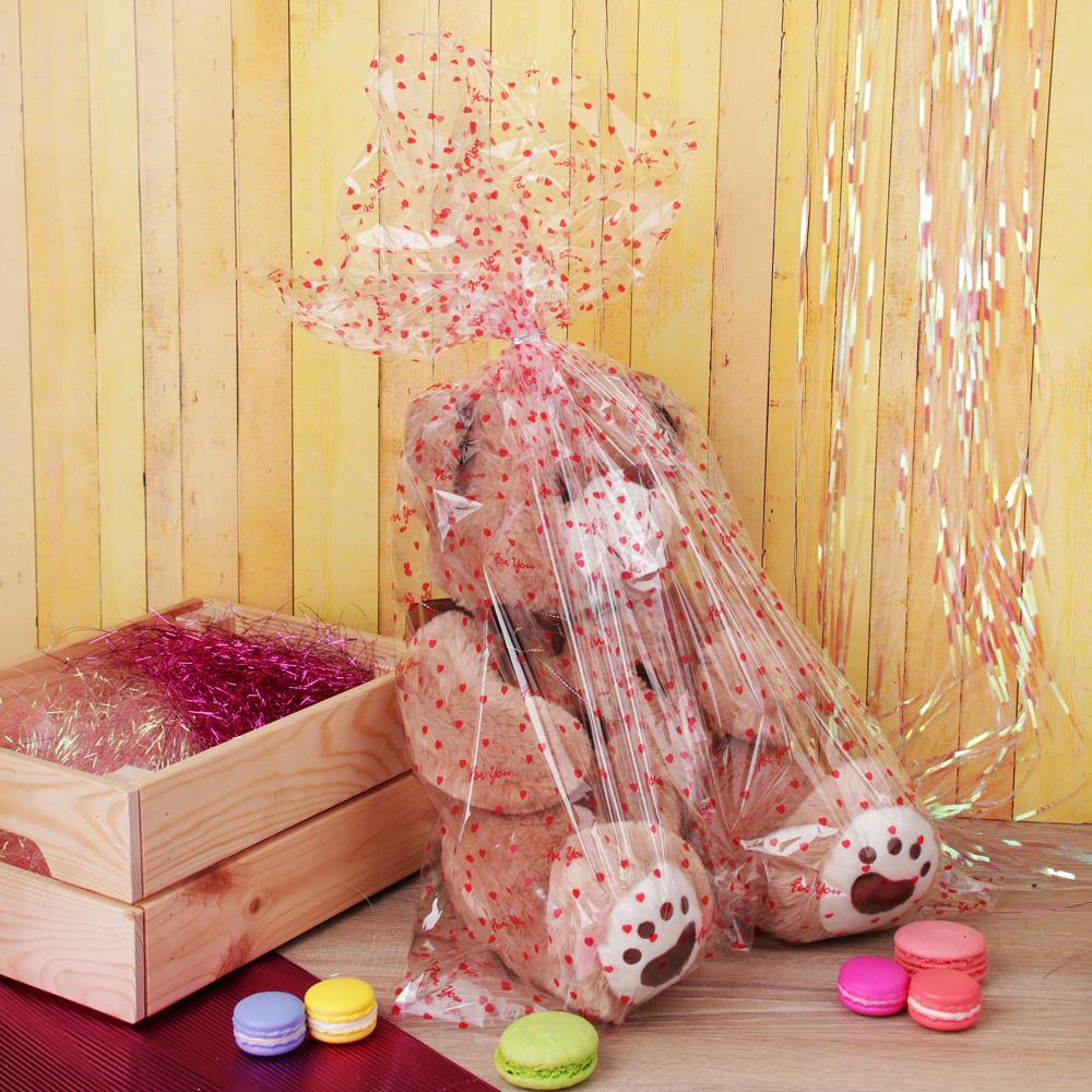 Пакет для упаковки подарков, ПВХ, с рисунком, 60х80 см