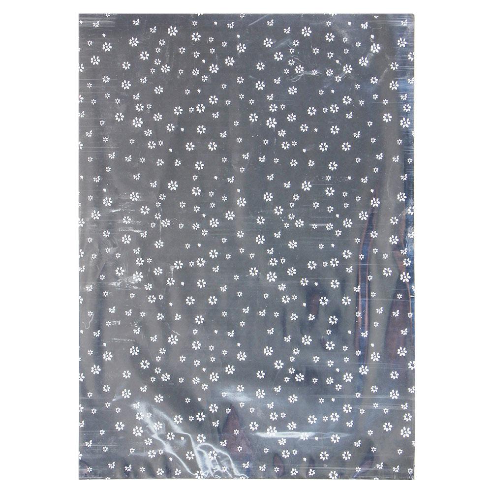 Пакет для упаковки подарков, ПВХ, с рисунком, 25х35 см, фольгированный
