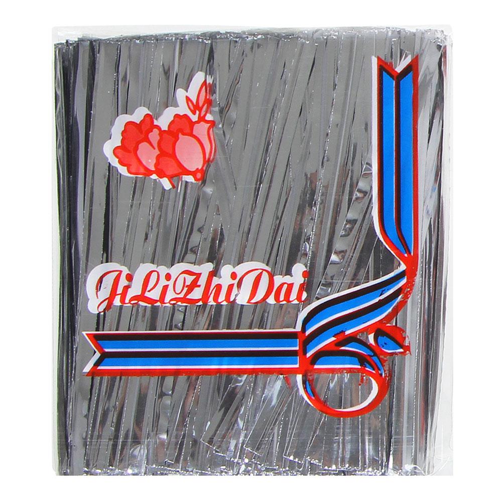 Зажим для пакета, фольга, металл, 750 шт 8 см, 2 цвета