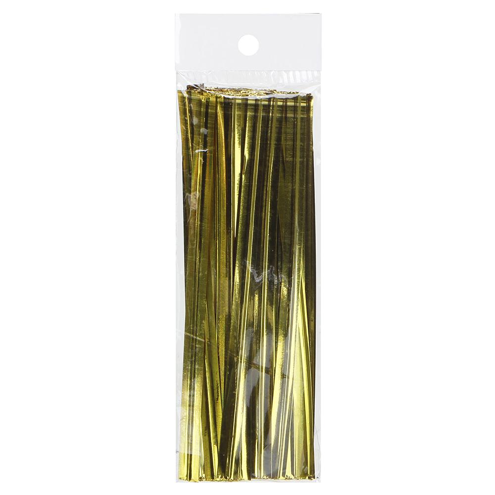 Зажим для пакета, фольга, металл, 100 шт 8 см