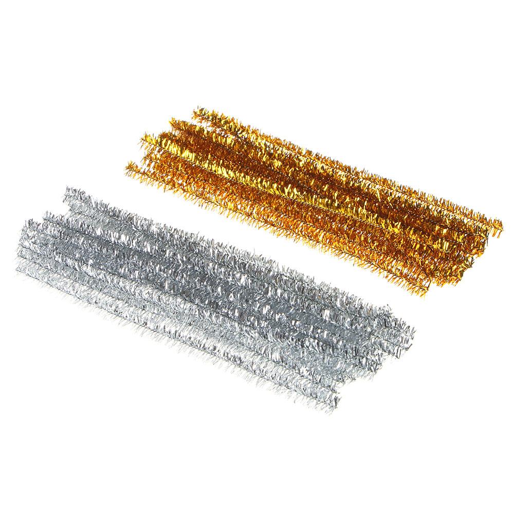 Зажим для пакета, фольга, металл, 20 шт 12 см, 2 цвета