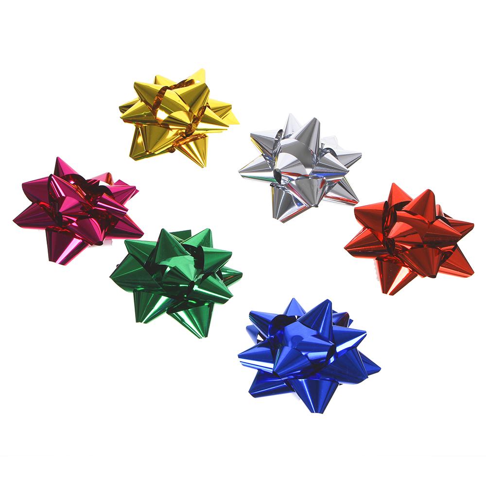 LADECOR Набор подарочных бантов, 2 шт, 7 см, 6 цветов, арт.1