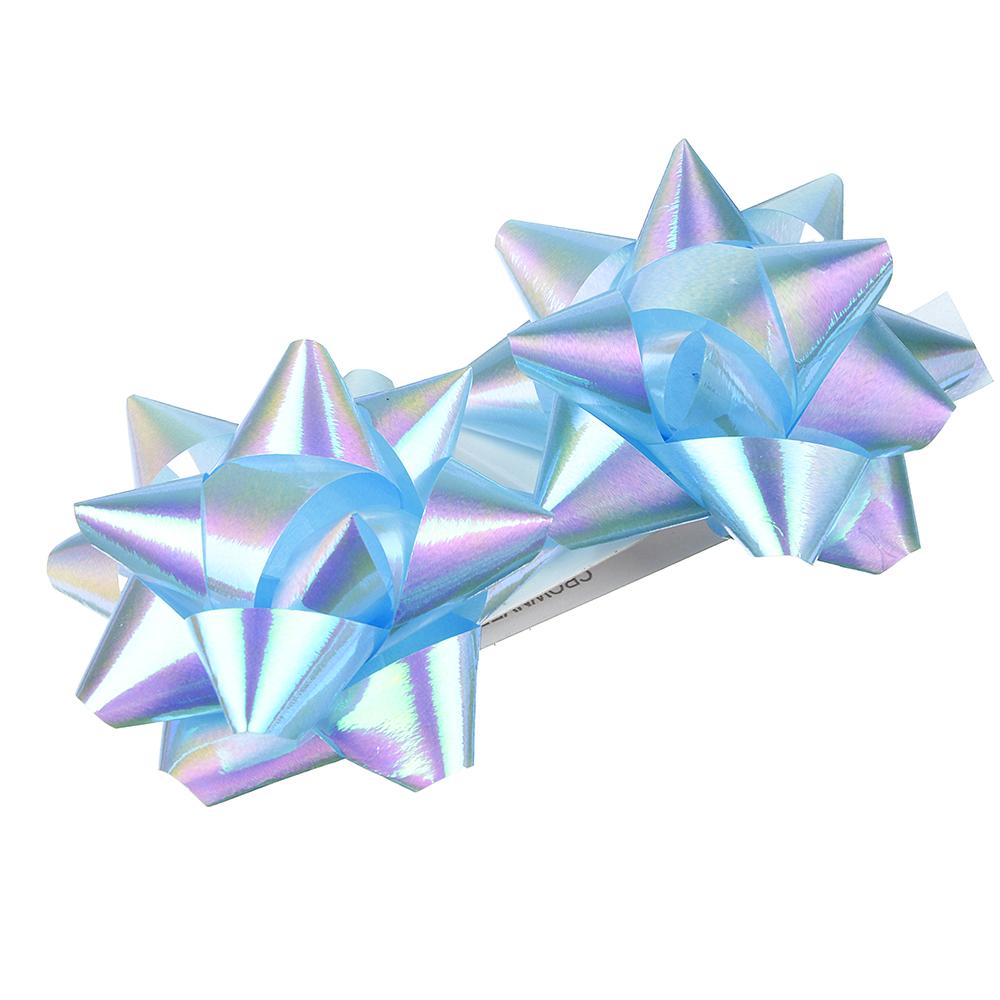 Набор подарочных бантов LADECOR 7 см, 6 цветов, перламутр, 2 шт