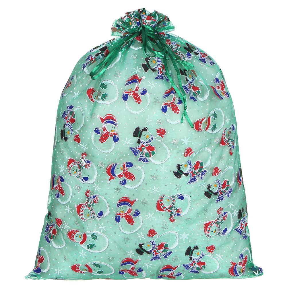 Мешок подарочный, 30х40 см, 5 цветов, полиэстер