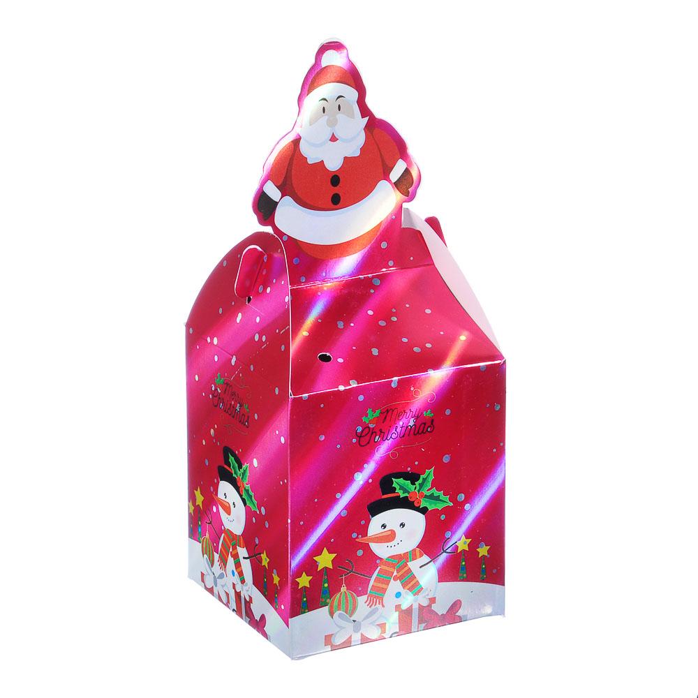 Коробка подарочная бумажная, 8,5х8,5х20 см, 4 дизайна, арт 3