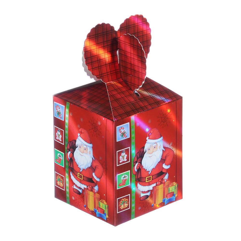 Коробка подарочная бумажная, 8,5х8,5х18 см, 4 дизайна, арт 4