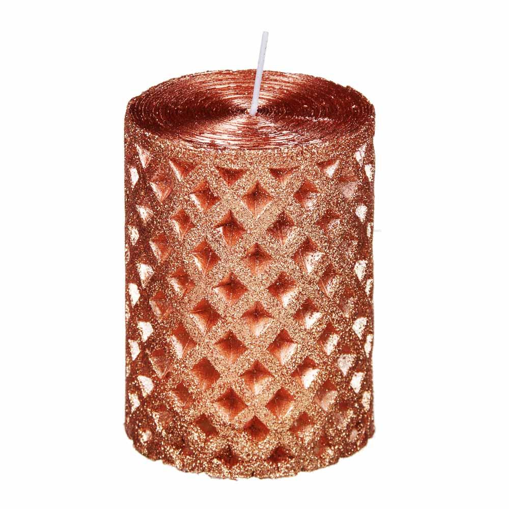 Свеча пеньковая, парафин, 7x10см, 4 цвета