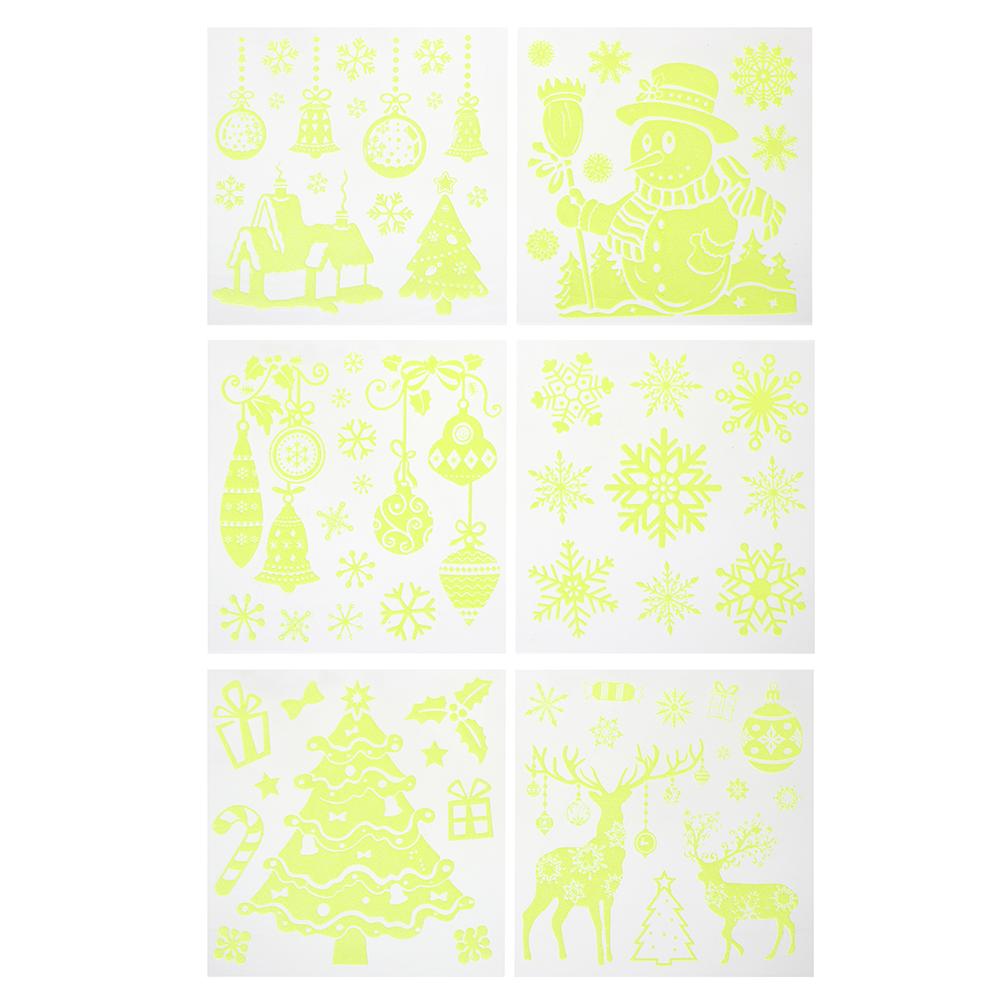 СНОУ БУМ Наклейка декоративная, 23х18 см, 6 дизайнов, с блеском
