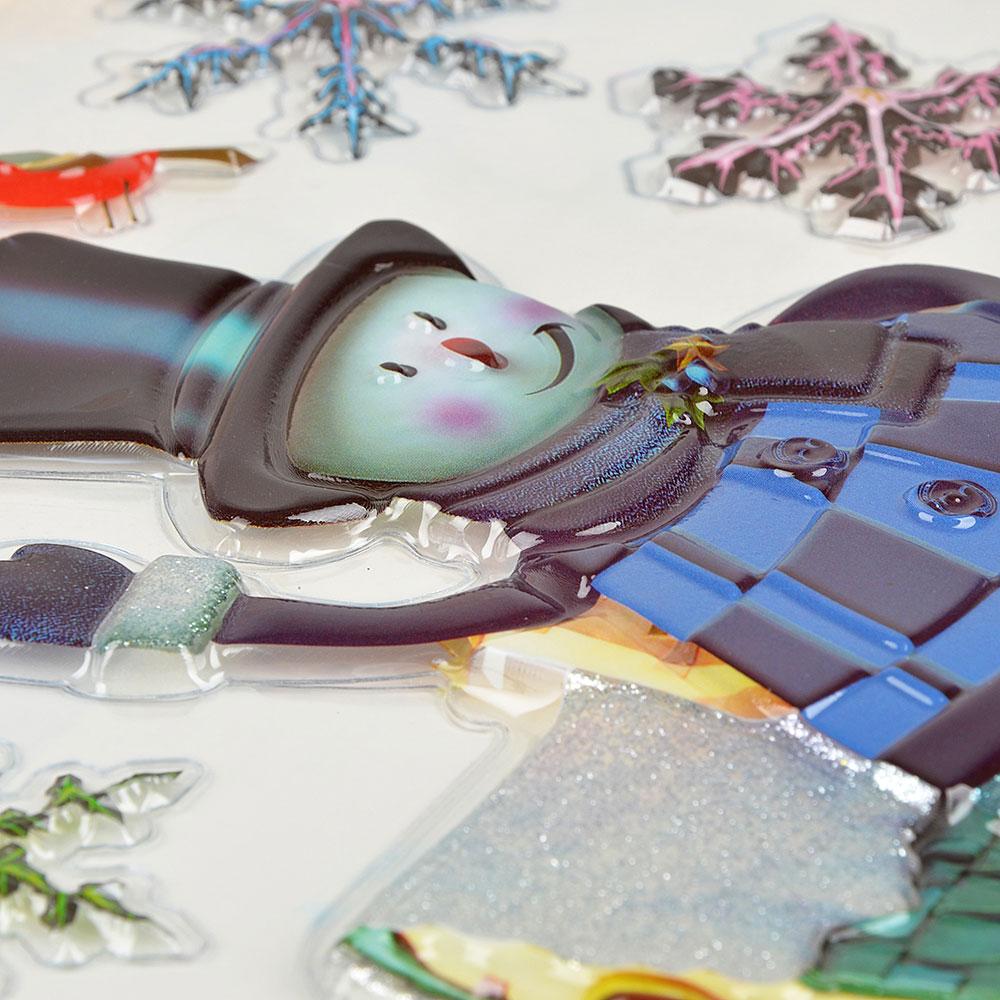 Наклейка декоративная СНОУ БУМ 24,5х31,5 см, 8 дизайнов