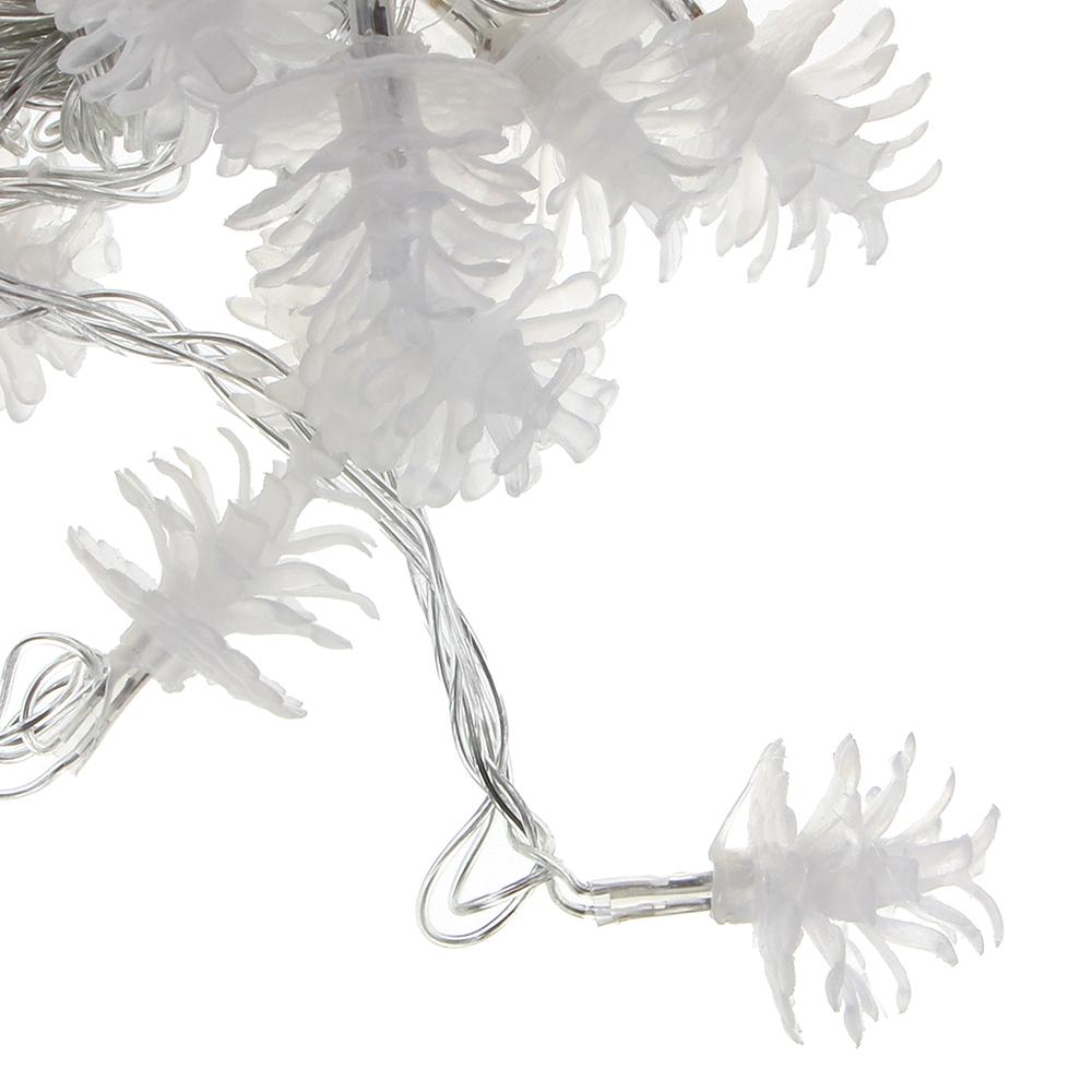 """Гирлянда светодиодная с насадками СНОУ БУМ """"Сосновая шишка"""", 3м, 15LED, шампань, 220В"""
