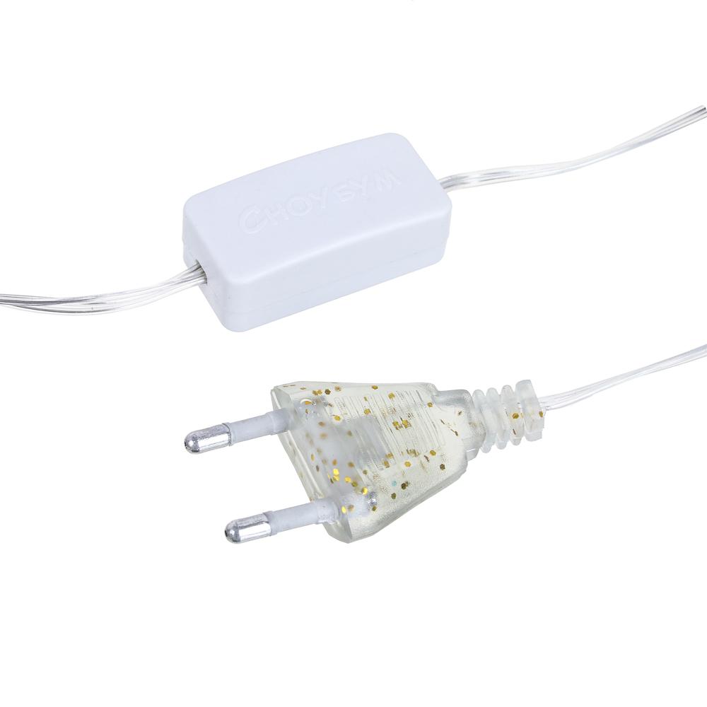 Гирлянда электрическая сетка СНОУ БУМ 96 LED, шампань, 1,4x1,5 м, постоянное свечение, 220В