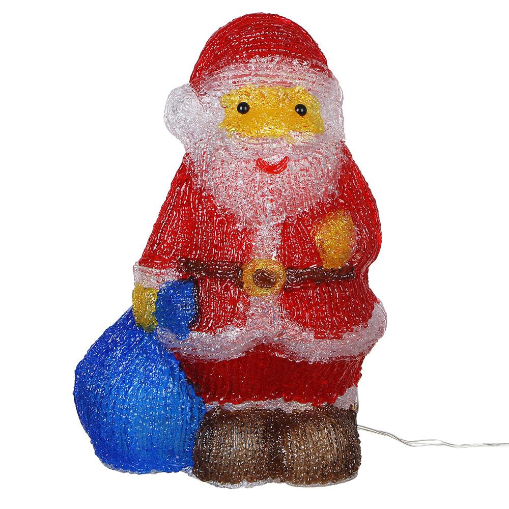 Светодиодная фигура Дед Мороз  с подарками СНОУ БУМ 40 LED, 8 режимов, акрил, 220В, 35х22см