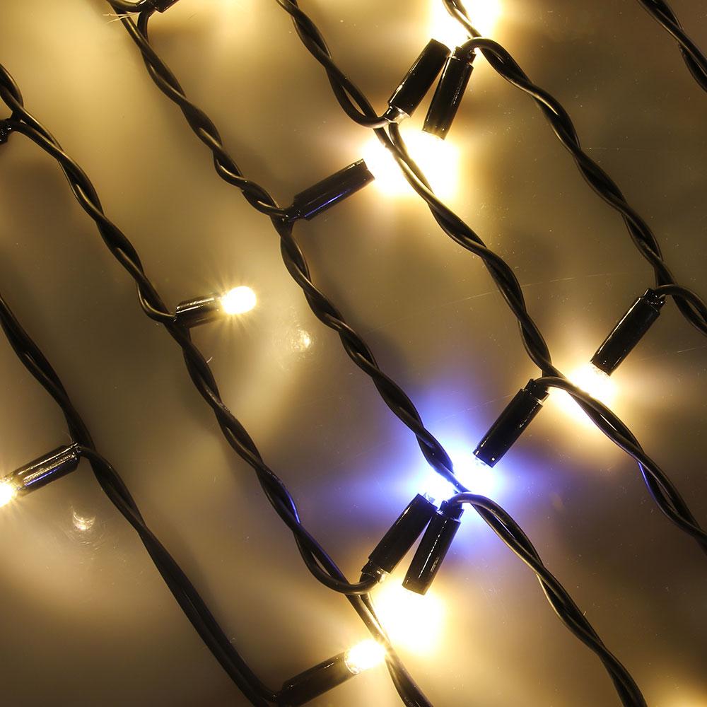 Гирлянда электрическая СНОУ БУМ бахрома уличная, 3х0,5 м, 100LED, шампань, мерцание