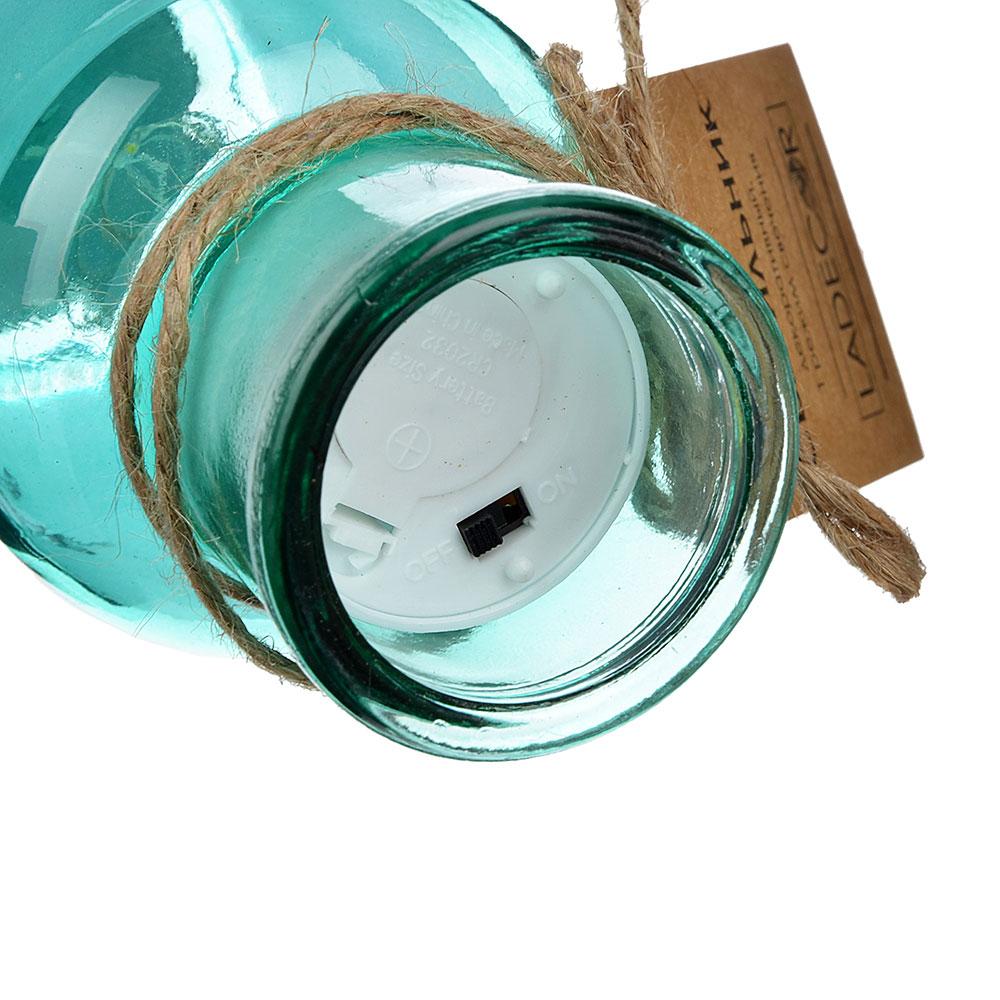LADECOR Светильник LED декоративный, стекло, d6,8Х15СМ, 1*CR2032, 6 цветов, 1 РЕЖИМ СВЕЧЕНИЯ