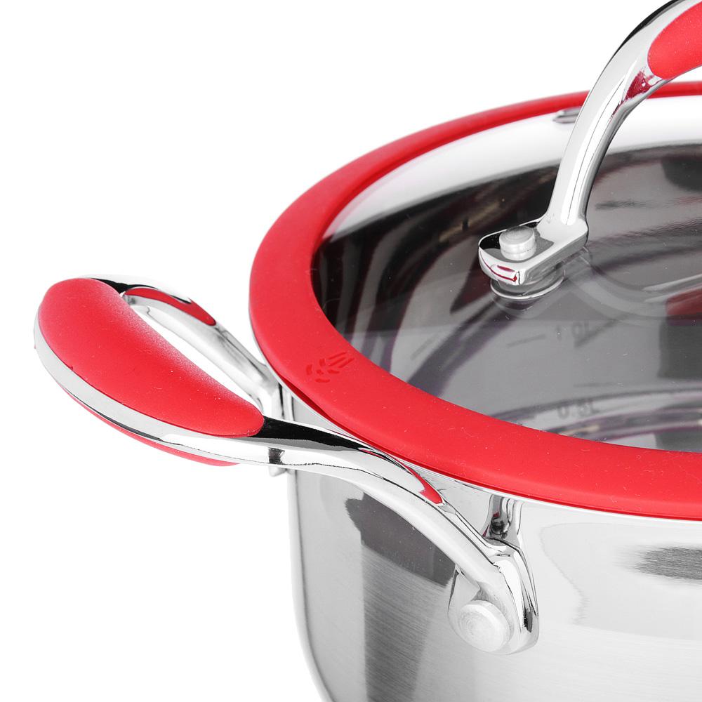 SATOSHI Венрай Кастрюля 18х10см 2,3л, со стекл. крышкой, индукция, нерж. сталь