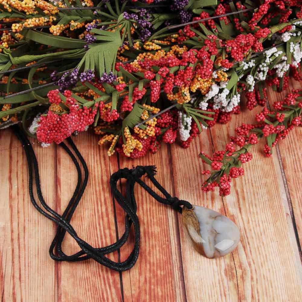 BERIOTTI Стихия Земля Подвеска из натурального камня, полиэстер, 40-70 см, 2 цвета