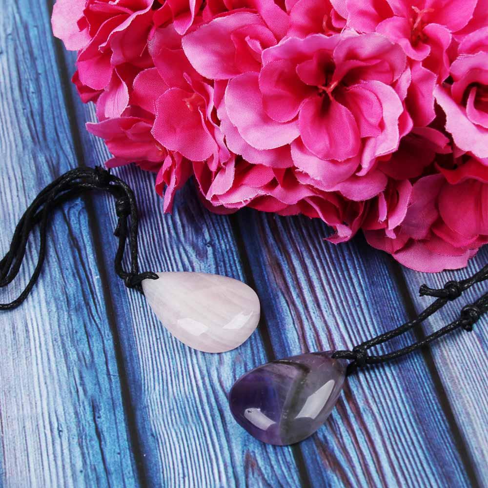 BERIOTTI Стихия Воздух Подвеска из натурального камня, полиэстер, 40-70 см, 2 цвета
