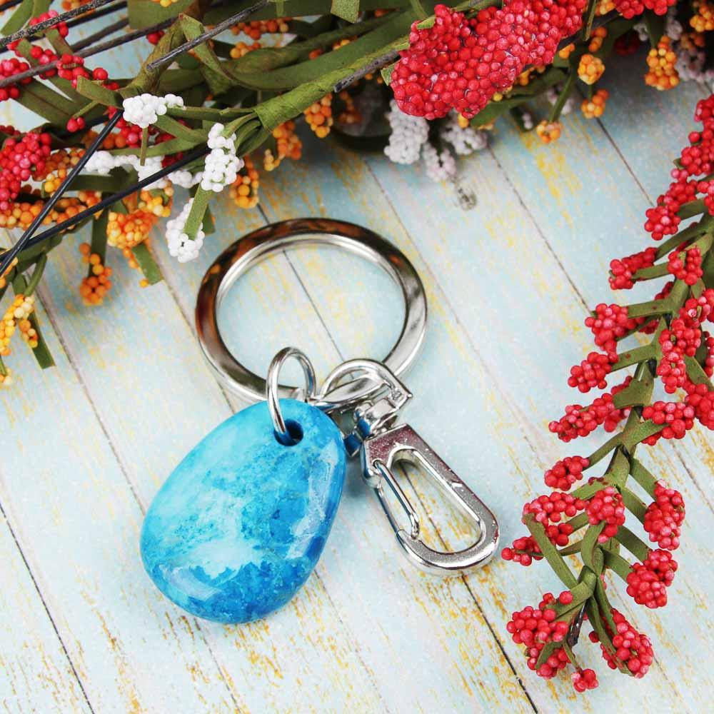 BERIOTTI Стихия Огонь Брелок из натурального камня, металл, 2,5х3,5х0,8см, 3 цвета