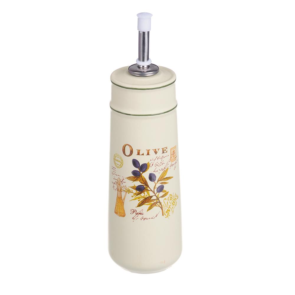 MILLIMI Вилладжио Бутылка для масла и уксуса с дозатором, 320мл, 6,5х22см, керамика