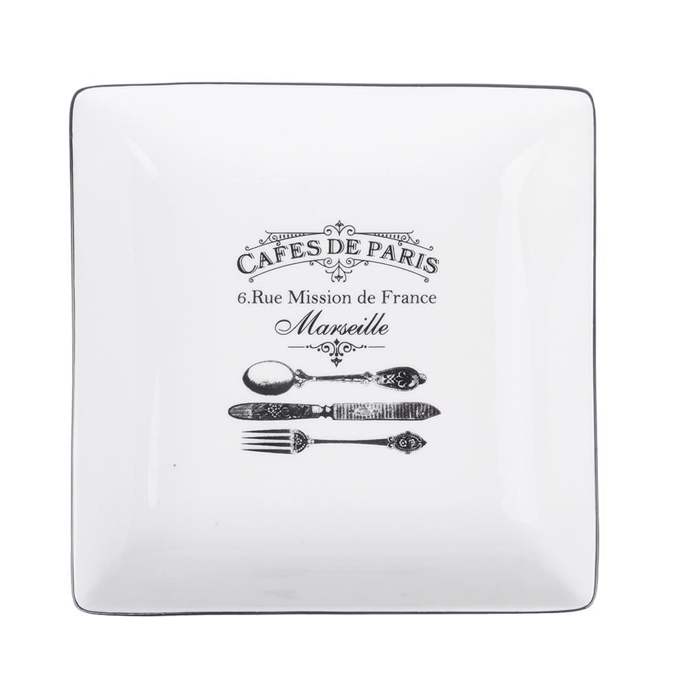 MILLIMI Кафе де Пари Блюдо квадратное, 18х18х4,5см, керамика