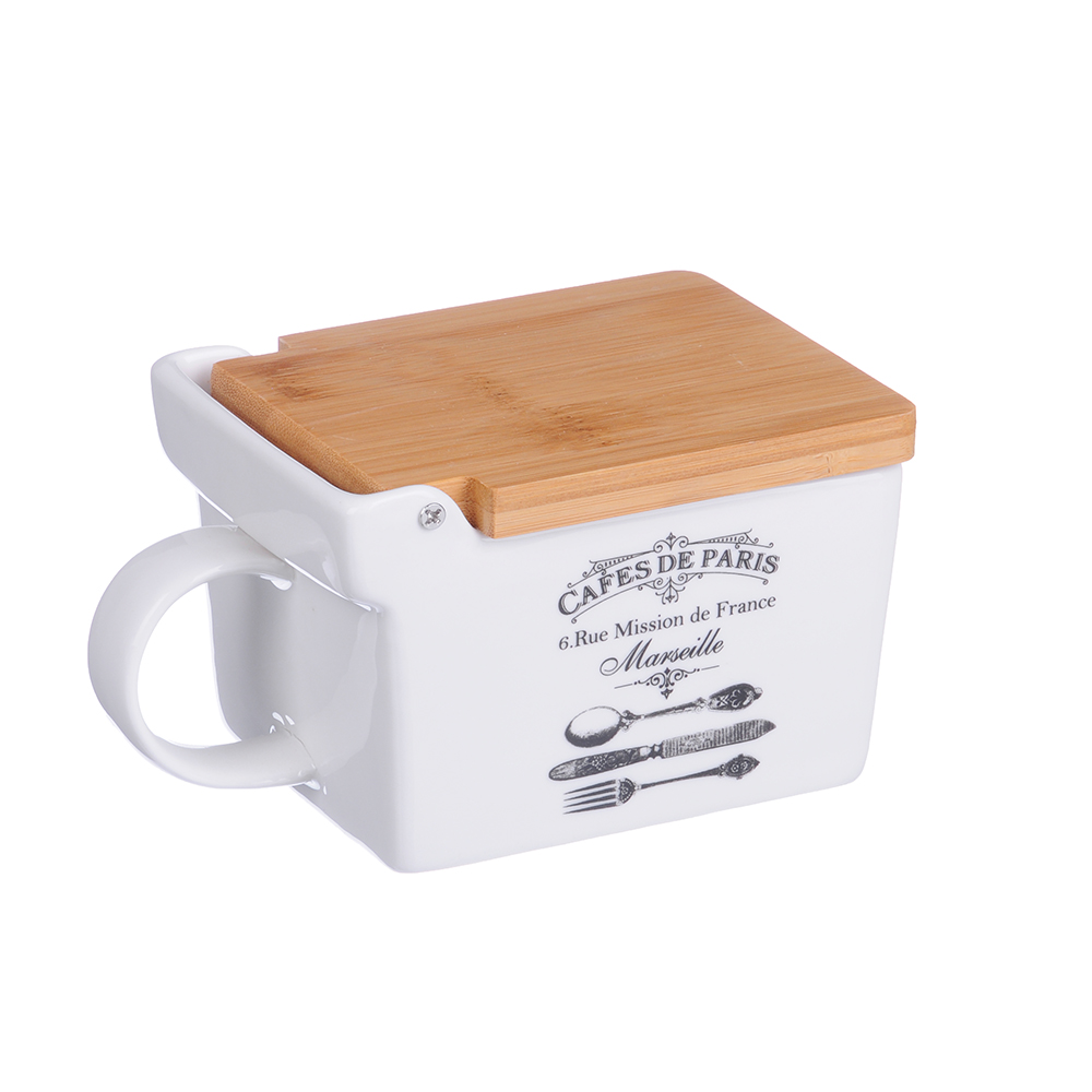 MILLIMI Кафе де Пари Банка для соли, 300мл, 25,5х9х7,5см, керамика