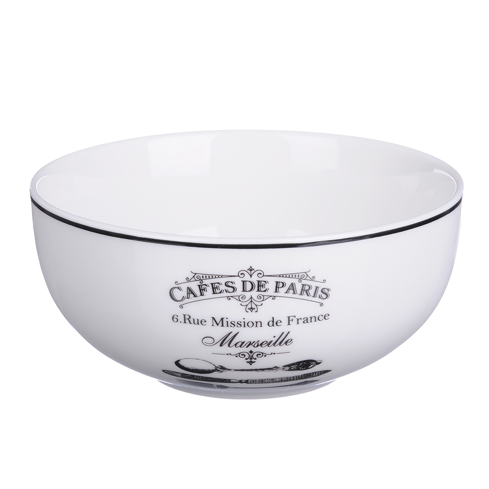 MILLIMI Кафе де Пари Салатник, 550мл, 14х6,5cм, керамика