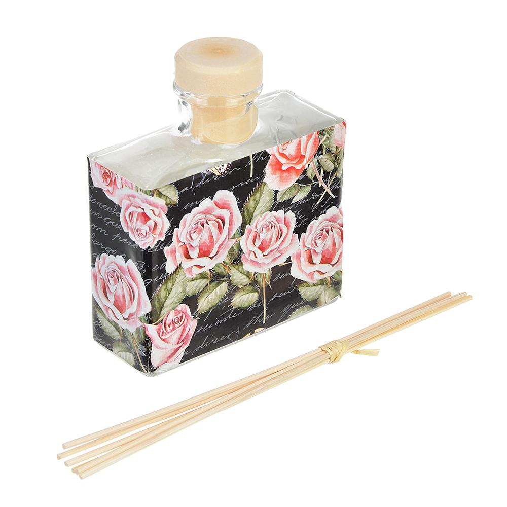 LADECOR Ароманабор 100мл с 6 палочками, 4 аромата (магнолия, лаванда, роза, фрезия)