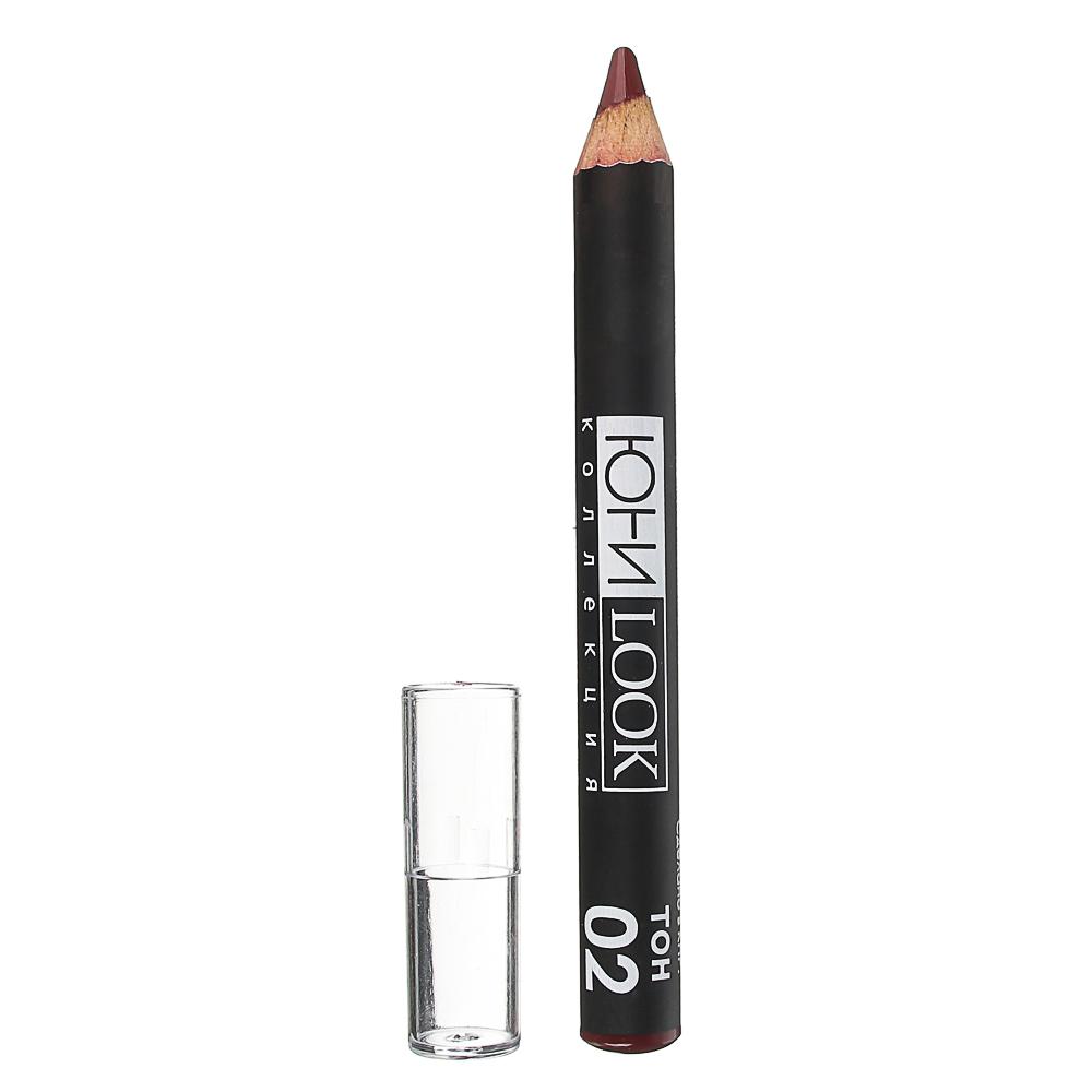 ЮниLook Помада-карандаш для губ ПГ-19 тон 02 ягодный, 2,2 гр.