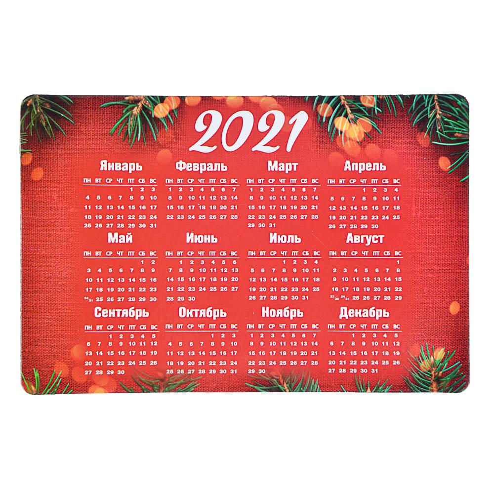 """Календарь-магнит на холодильник СНОУ БУМ """"Новогодний"""", 15х10 см, бумага, винил, 12 дизайнов ГЦ"""