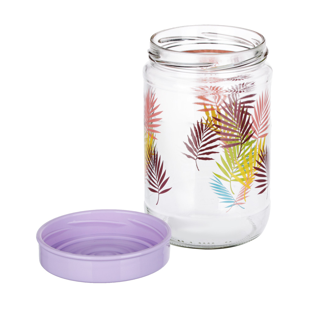 Банка для сыпучих продуктов HEREVIN Тропики, стекло, 660мл, 171441-061