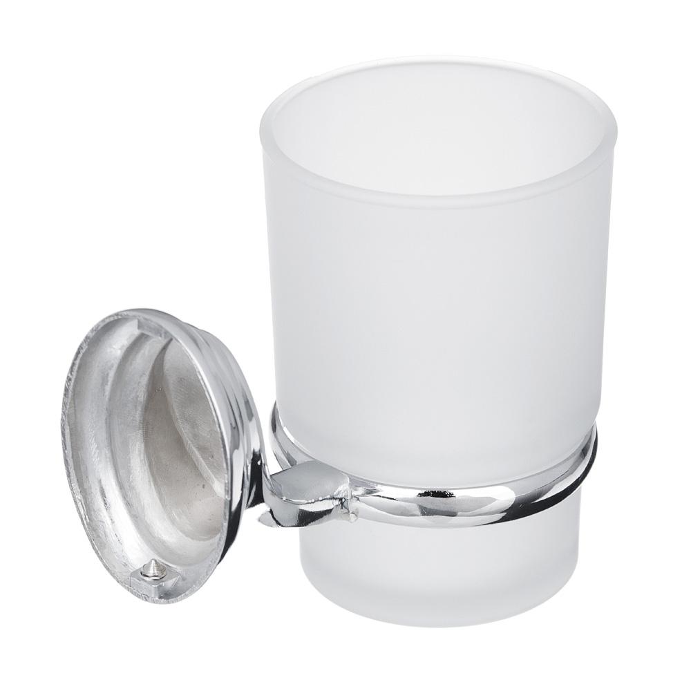Sonwelle Стакан для зубных щеток подвесной с креплением, хром, стекло