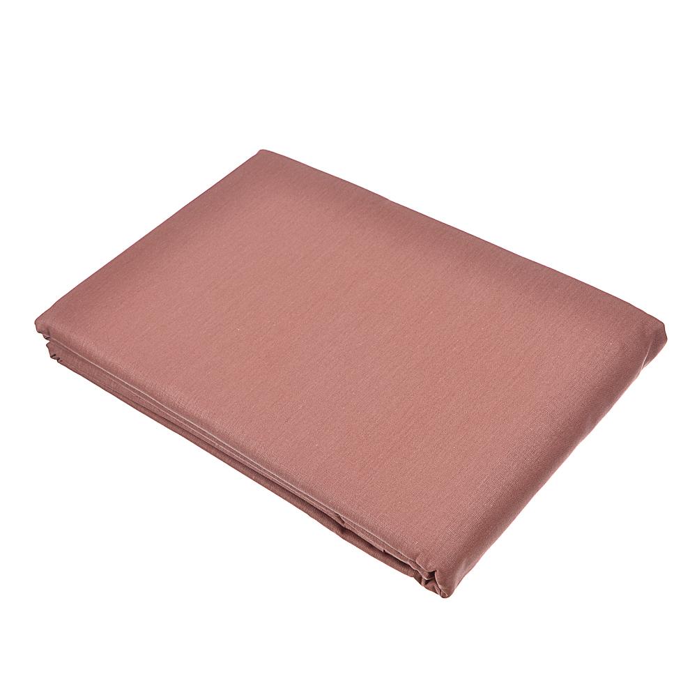 Простыня 1,5 PROVANCE, 150х220 см, хлопок, бежевый/шоколад