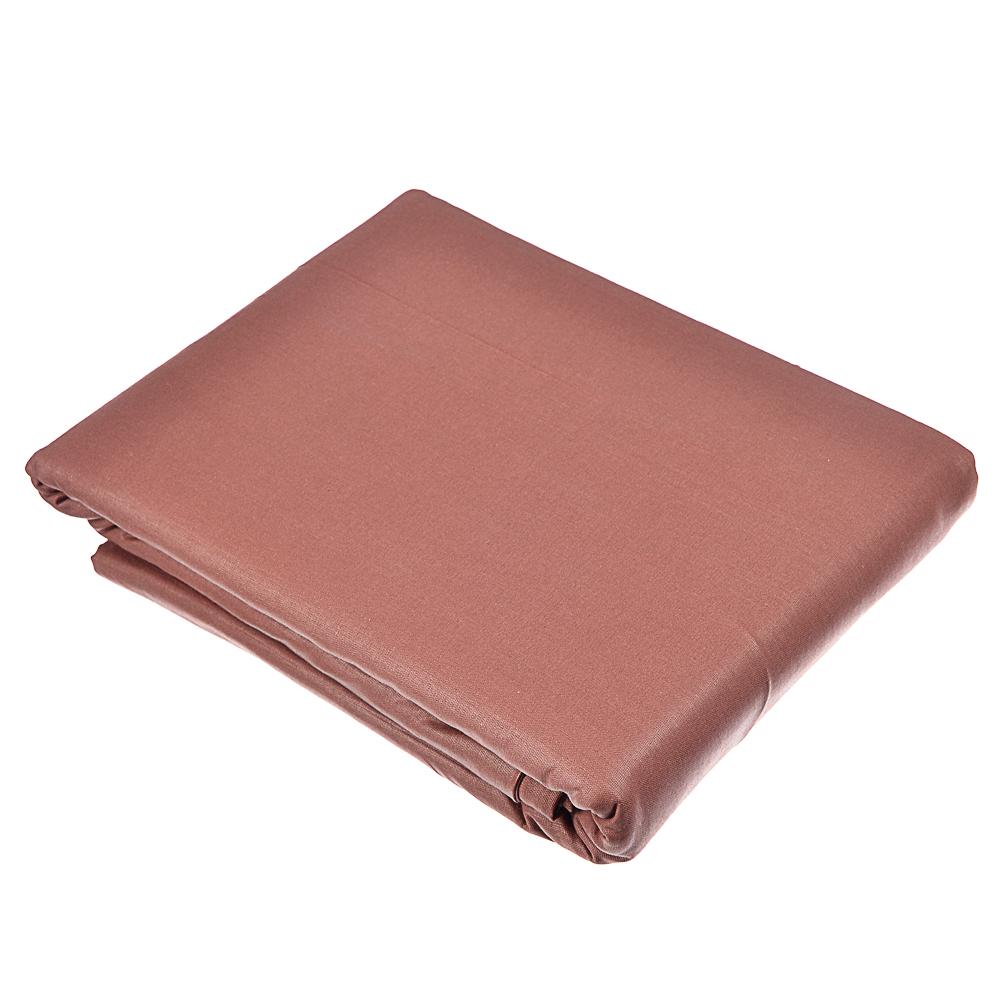Пододеяльник евро PROVANCE, 200х220 см, хлопок, бежевый/шоколад