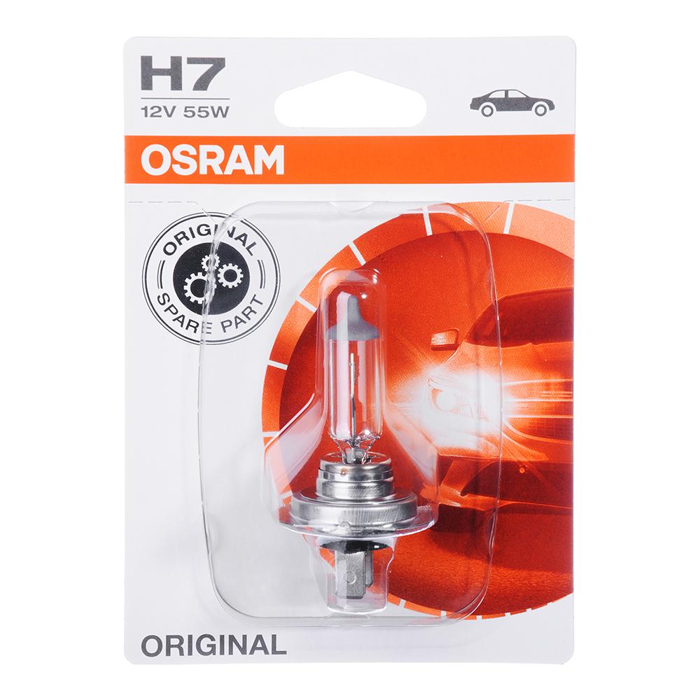 Автолампа галогеновая OSRAM H7 (55), PX26d 12V, блистер, 1 шт