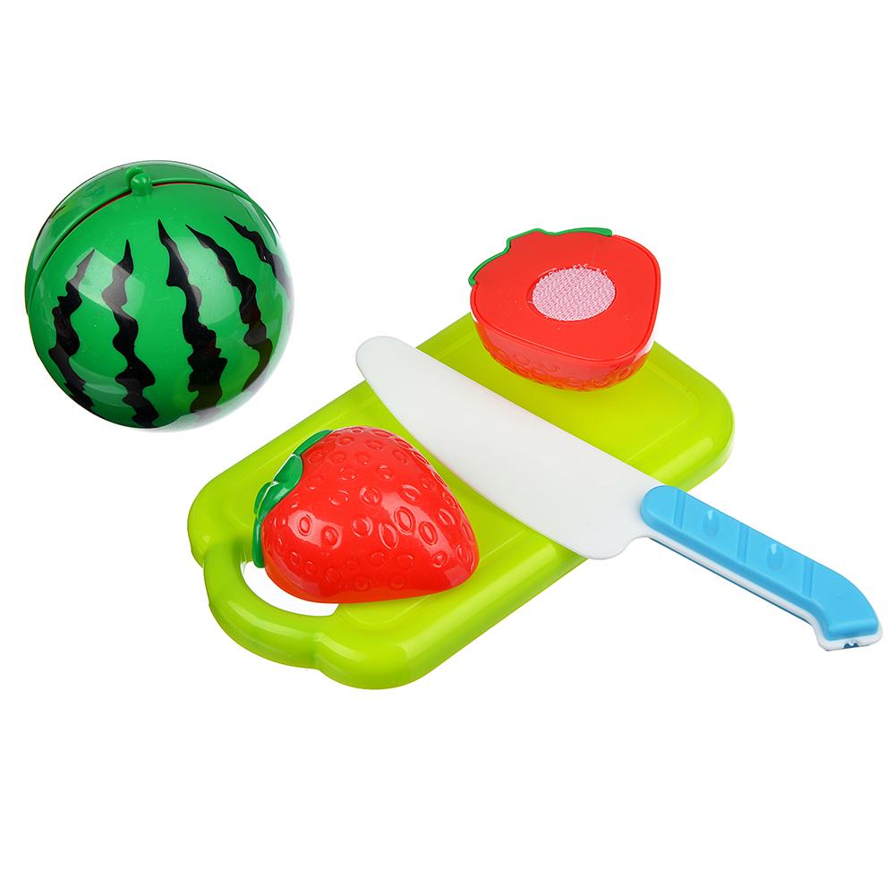 ИГРОЛЕНД Набор продуктов для резки с липучкой, 6 пр., пластик, 20х30х5см, 7 дизайнов