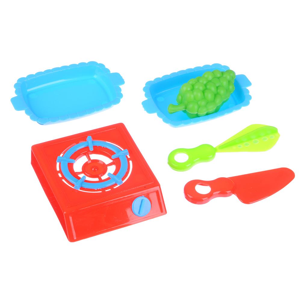 ИГРОЛЕНД Набор посуды с продуктами, 6 пр., пластик, 22х16х2см