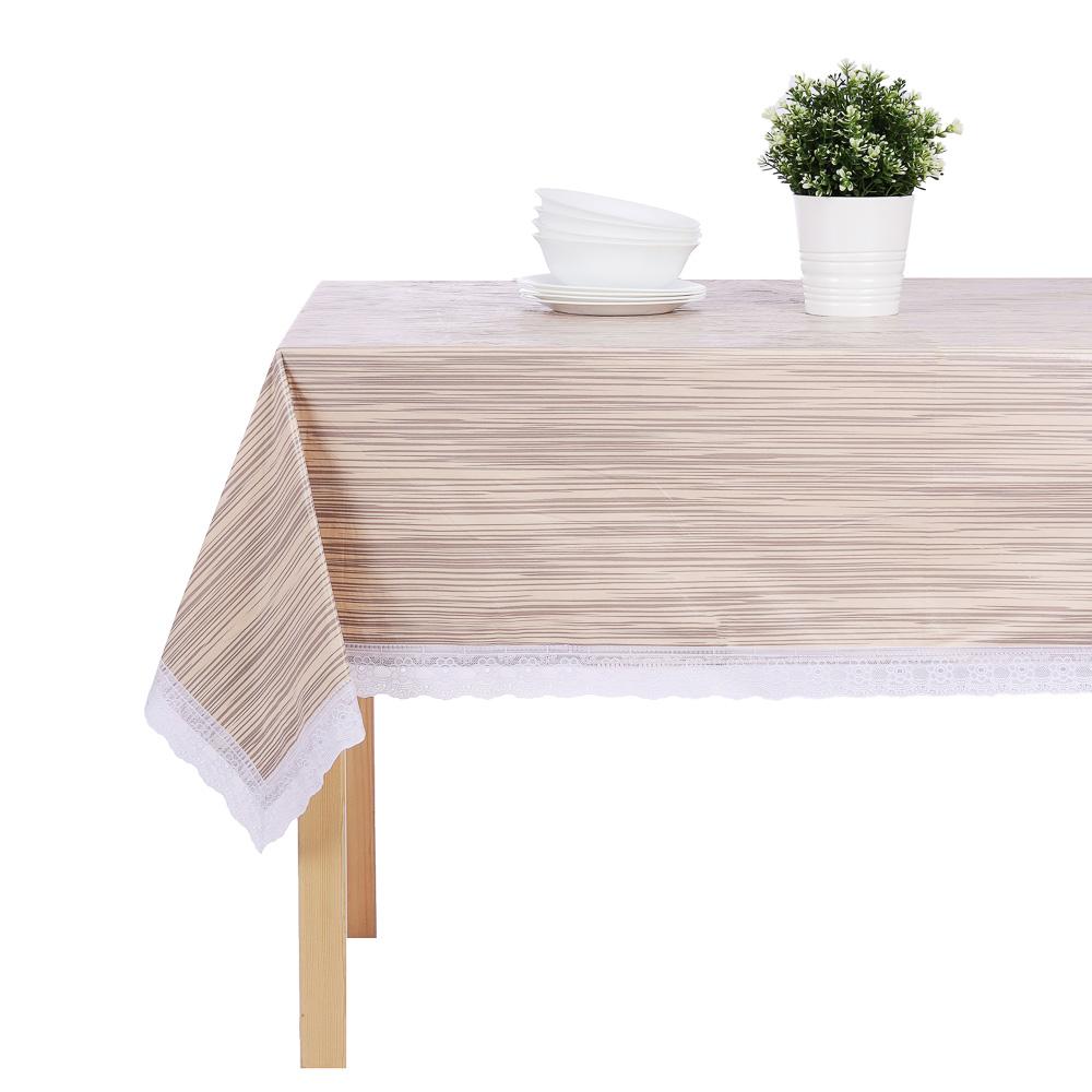 """Скатерть 140х180 см PROVANCE """"Настроение"""" с ажурной каймой, 6 дизайнов, ПВХ"""
