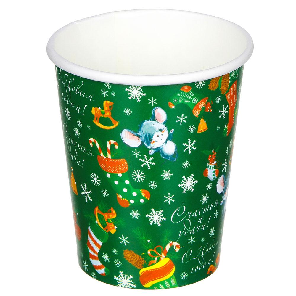 Набор бумажных стаканов СНОУ БУМ 6 шт, 200 мл, арт 3