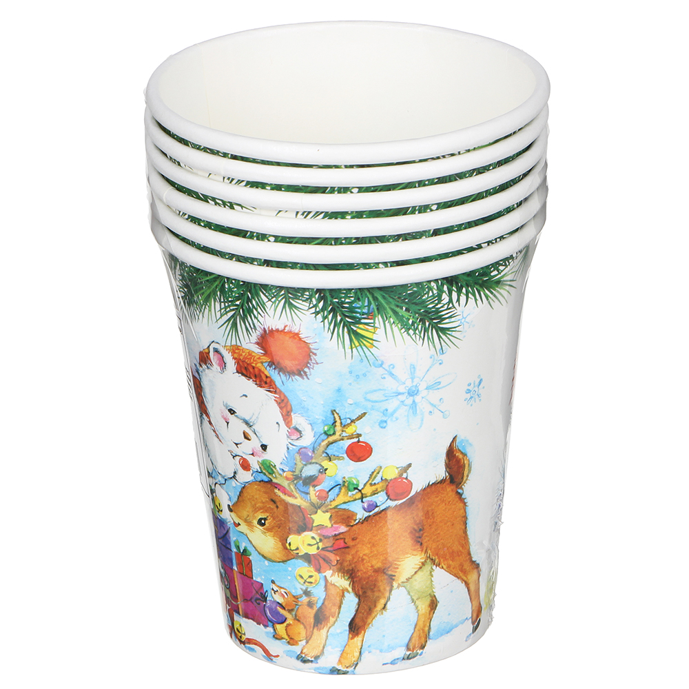 Набор бумажных стаканов СНОУ БУМ 6 шт, 200 мл, арт 5