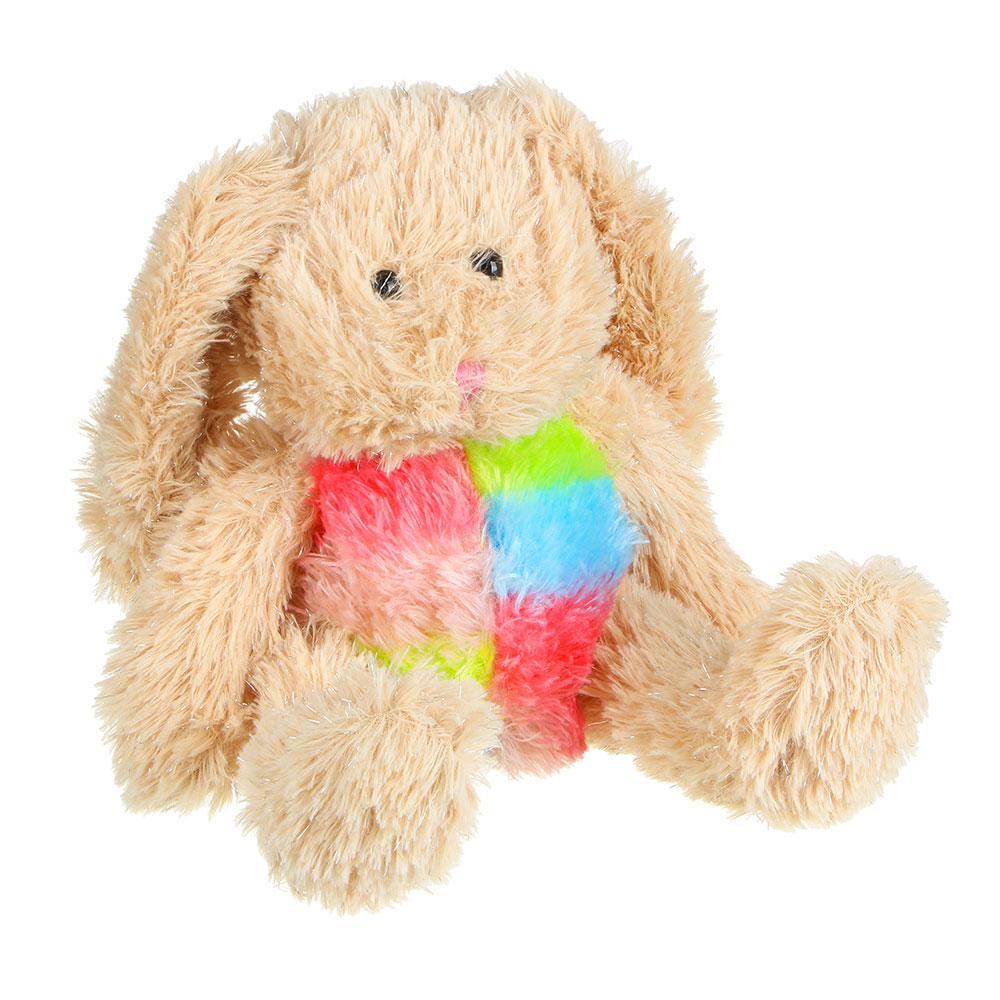 МЕШОК ПОДАРКОВ Игрушка мягкая в виде зайчика блестящего, полиэстер, 25см, 2 цвета