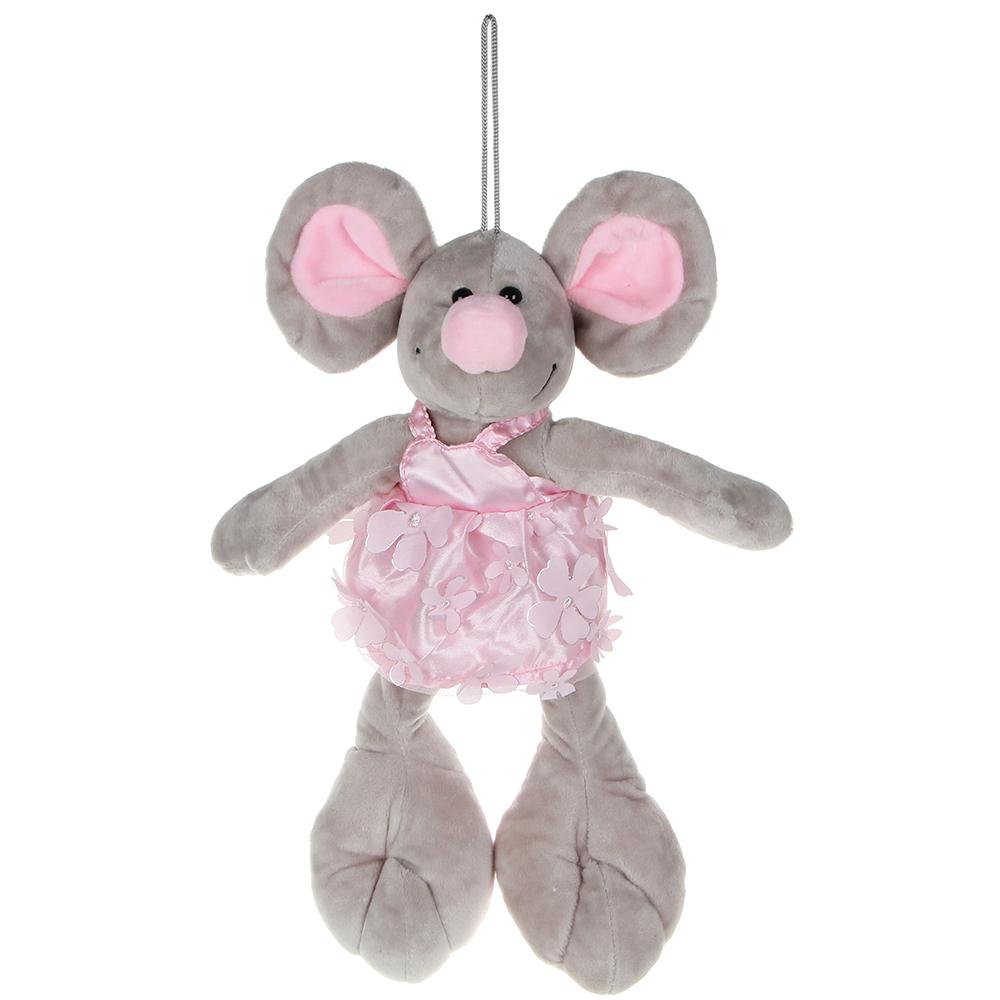 МЕШОК ПОДАРКОВ Игрушка мягкая в виде мыши, 30-35см, плюш, 2-4 цвета