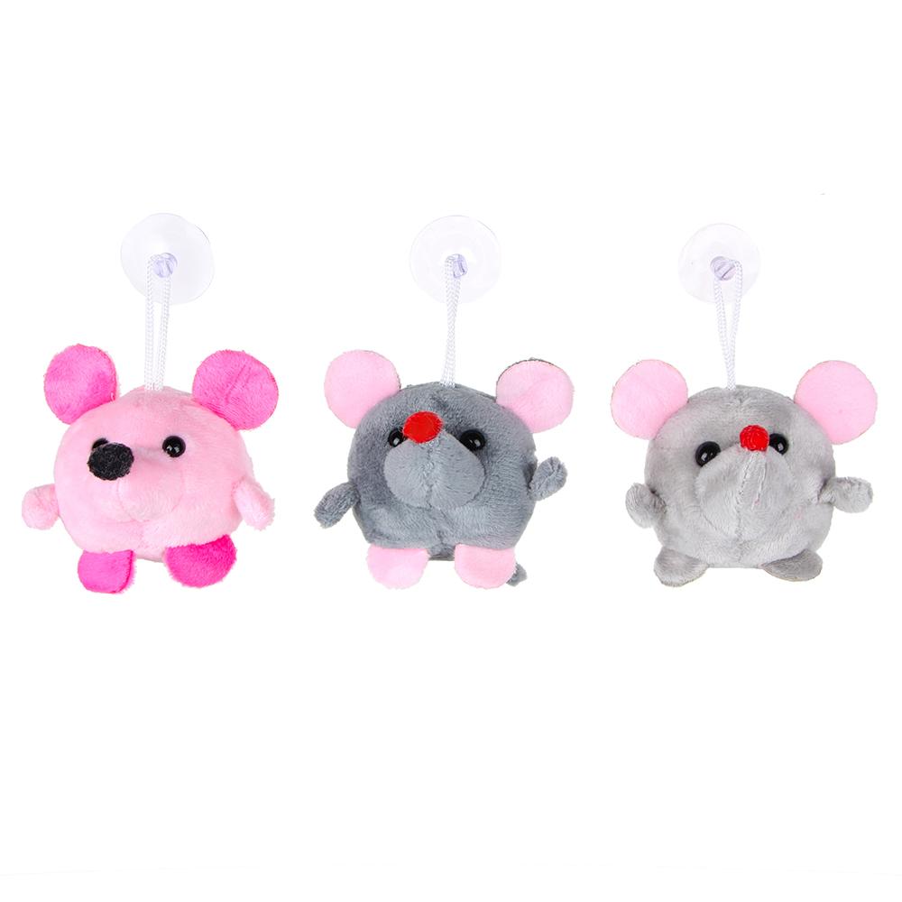 МЕШОК ПОДАРКОВ Игрушка мягкая мышка с подвесом, 4-8см, плюш, 1-3 цвета