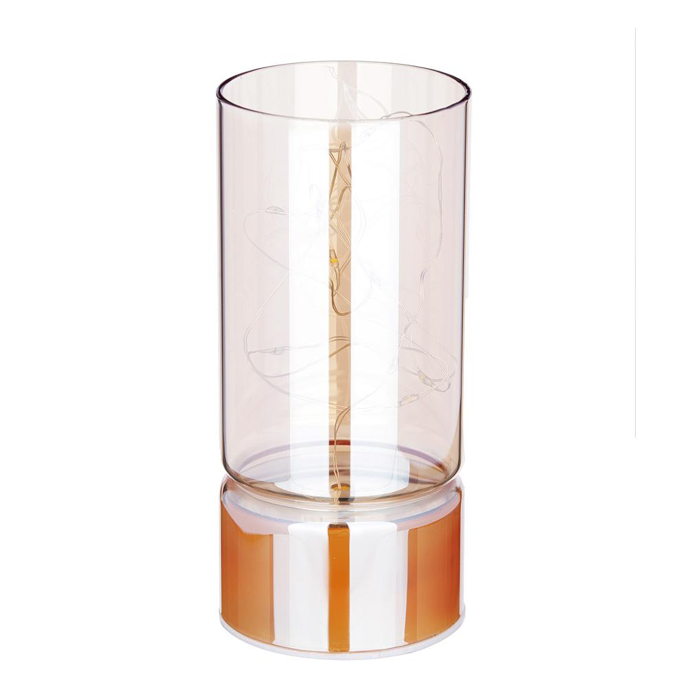 Светильник LED с гирляндой, 15х7 см, стекло, 2хАА, без батареек, арт3