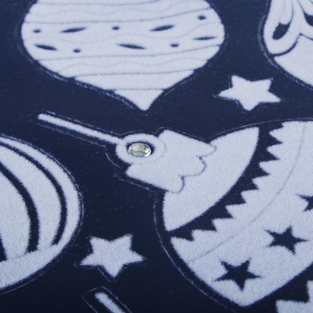 Новогодние наклейки СНОУ БУМ ПВХ, 30х38 см, нейлон, стразы, 2 дизайна
