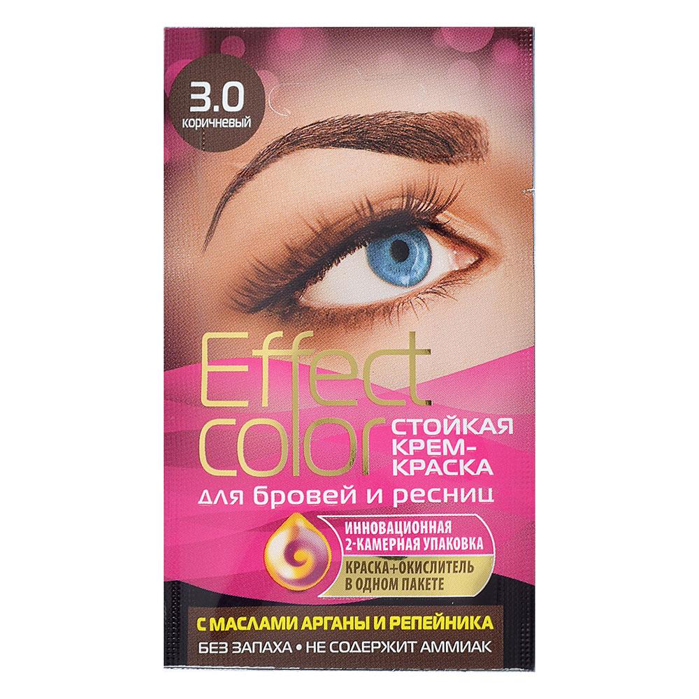 Крем-краска д/бровей и ресниц Effect Сolor,цвет корич./горький шоколад,3мл, 2 вида, 7877/7878