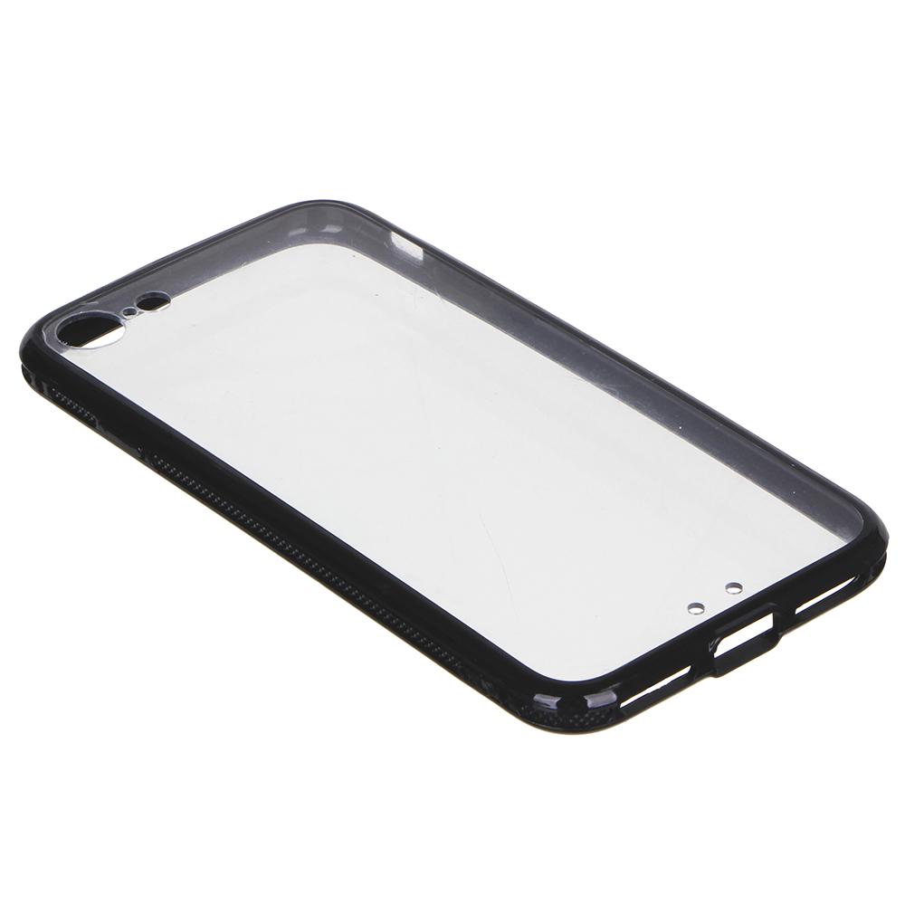 Чехол защитный для телефона прозрачный, пластик, 4 модели, 5 цветов, ЧМ19-3