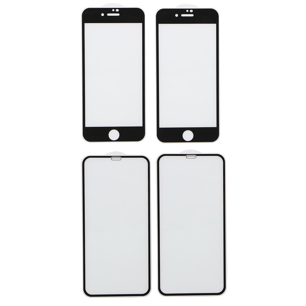 Стекло защитное для телефона с рамкой, 4 модели
